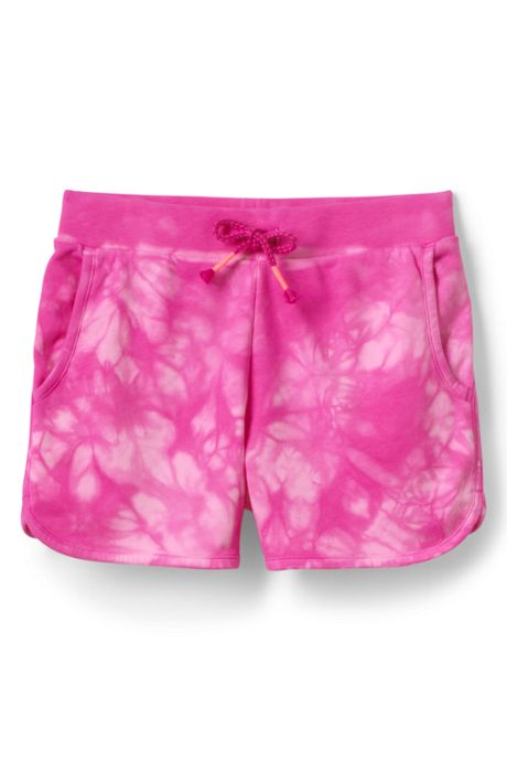 Girls Plus Tie Dye French Terry Pull On Shorts