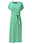 Robe Midi Rayée en Coton Stretch, Femme Grande Taille