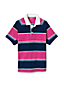 Polo Rugby Nid d'Abeilles à Manches Courtes Col Chemise, Homme Stature Standard