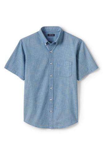 Men's Chambray Short Sleeve Shirt