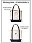 Large Zip Top Canvas Tote Bag, Print