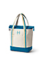 Medium Zip Top Canvas Tote Bag, Print