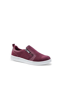 Women's Side Zip Suede Trainers