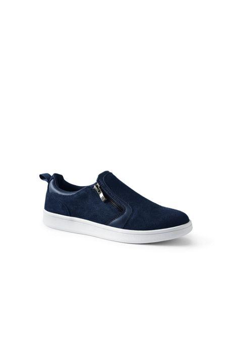Women's Suede Zip Sneakers