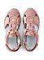 Sandale Semi-Fermée en Daim, Femme Pied Large