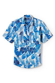 Leinenhemd mit kurzen Ärmeln für Herren, Classic Fit