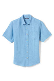 Men's Tall Tailored Fit Short Sleeve Linen Shirt