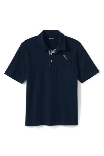 Super-T Poloshirt mit Madras-Details für Herren, Classic Fit