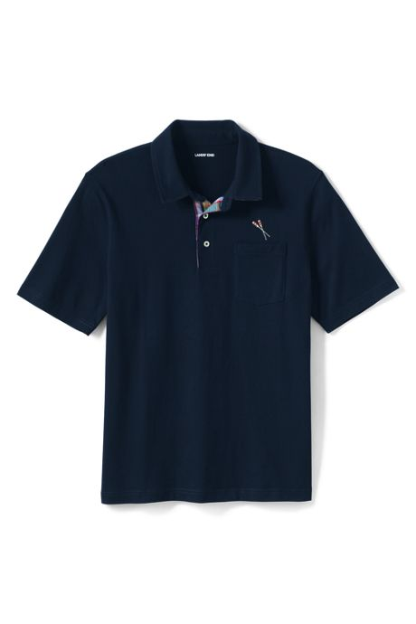 Men's Madras Short Sleeve Super-T Polo Shirt