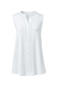 Women's Plus Size Embroidered Button Front Tunic Tank Top