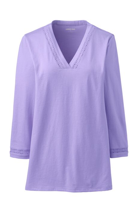 Women's Plus Size 3/4 Sleeve V-Neck Tunic