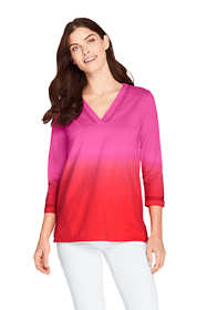 Women's 3/4 Sleeve V-neck Tunic