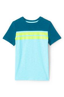 Jersey-Shirt mit Bruststreifen für Jungen