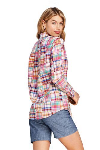 Women's Boyfriend Fit Cotton Patchwork Tunic Top