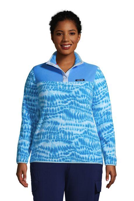 Women's Plus Size Heritage Fleece Snap Neck Pullover Top