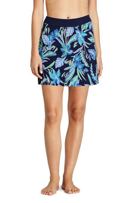 Women's Tummy Control Skirt Swim Bottoms Print
