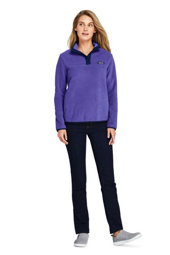 Women's Heritage Fleece Snap Neck Pullover Top