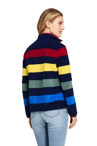 Women's Petite Heritage Fleece Snap Neck Pullover Top
