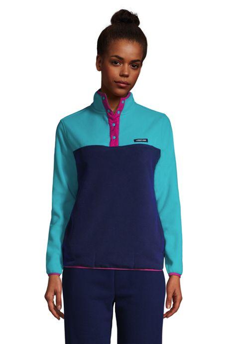 Women's Fleece Heritage Snap Neck Pullover Top