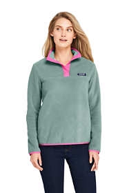 Women's Petite Heritage Fleece Snap Neck Pullover Top