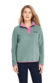Women's Heritage Fleece Snap Neck Pullover Top