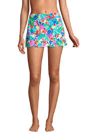 Women's Tummy Control Wrap Mini Swim Skirt Swim Bottoms Print