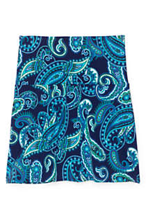 Women's Plus Size Tummy Control Ultra High Waisted Modest Swim Skirt Swim Bottoms Print, Front