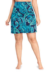 Women's Plus Size Tummy Control Ultra High Waisted Modest Swim Skirt Swim Bottoms Print