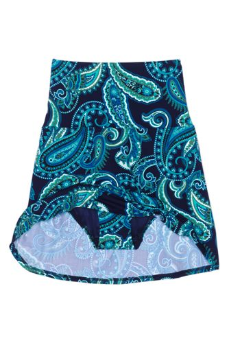 Women's Tummy Control Ultra High Waisted Modest Swim Skirt Swim Bottoms Print