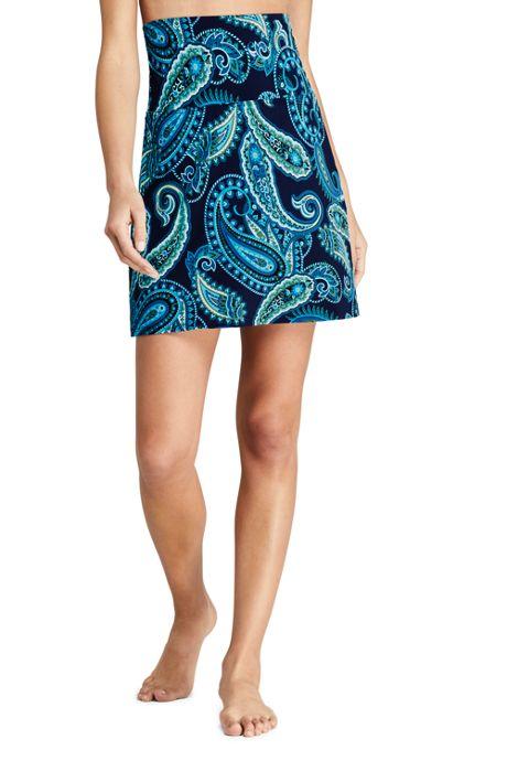 Women's Tummy Control Ultra High Waisted Modest Swim Skirt Swim Bottoms Print