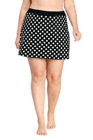 Women's Plus Size Tummy Control Skirt Swim Bottoms Print