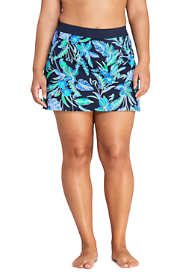 Women's Plus Size Tummy Control Skirt Swim Bottoms Print