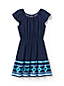 Girls' Smocked Waist Dress with Border Print Frill