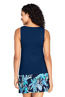 Women's Long High Neck UPF 50 Modest Tankini Top Swimsuit, Back