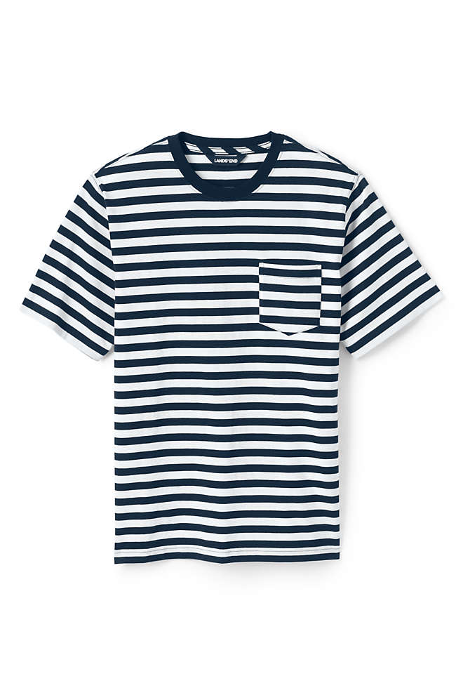 Men's Stripe Short Sleeve Super-T with Pocket, Front