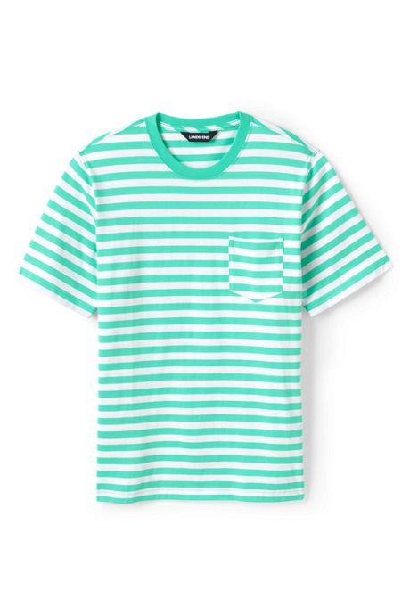 Men's Stripe Short Sleeve Super-T with Pocket
