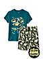 Kurzes Pyjama-Set mit Leuchtmotiv für Jungen