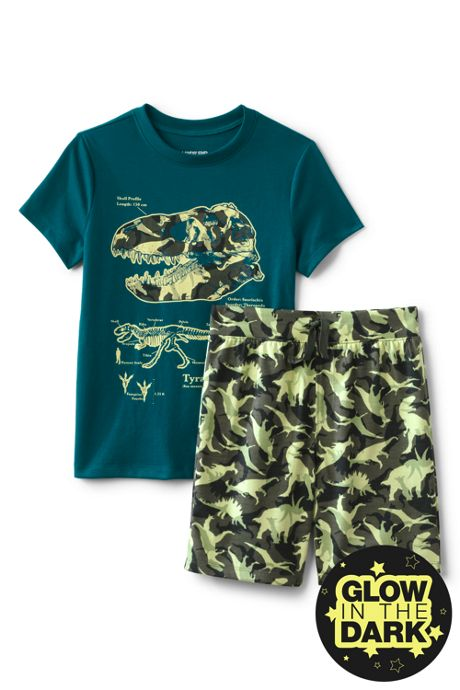 Toddler Boys Glow in the Dark Pajama Set