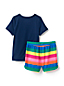 Girls' Short Pyjamas, Glow-in-the-dark