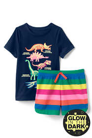 Girls Glow in the Dark Pajama Set