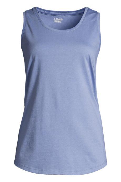 Women's Supima Cotton Scoop Neck Tunic Tank Top