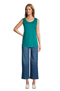Women's Supima Cotton Scoop Neck Tunic Tank Top, alternative image