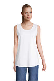 Women's Petite Supima Cotton Scoop Neck Tunic Tank Top