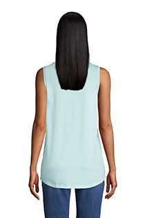 Women's Tall Supima Cotton Scoop Neck Tunic Tank Top, Back