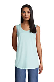 Women's Tall Supima Cotton Scoop Neck Tunic Tank Top, Front