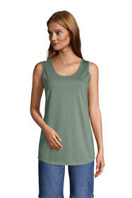 Women's Tall Supima Cotton Scoop Neck Tunic Tank Top