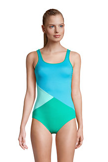 Women's Chlorine Resistant Tugless Sporty One Piece Swimsuit