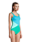 Women's Chlorine Resistant Tugless Sporty One Piece Swimsuit - D Cup