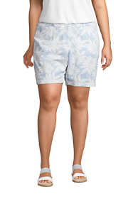 "Women's Plus Size Mid Rise 7"" Chino Seersucker Shorts Print"