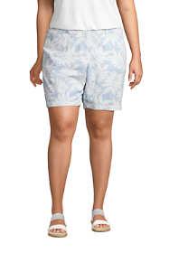 "Women's Plus Size Mid Rise 7"" Print Seersucker Shorts"